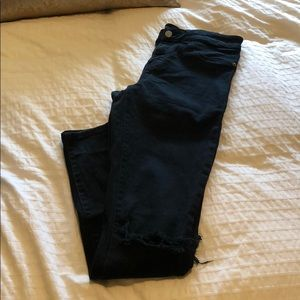 Nordstrom BP Black Jeans w/ knee slits